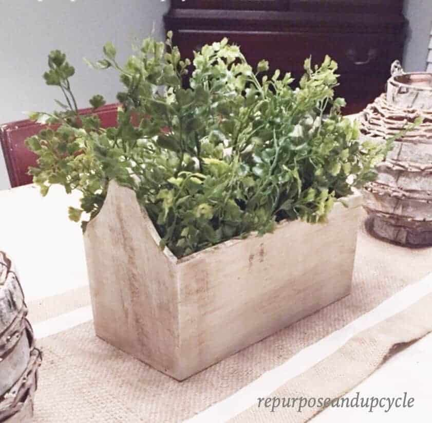 Vintage Toolbox Planter Decor from the Target Dollar Spot